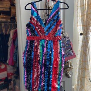 Multicolored Sequin Dress